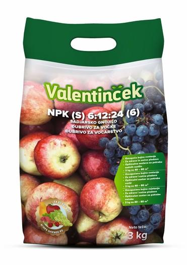 VALENTINČEK NPK 6-12-24 (sadjarsko gnojilo) 3 KG